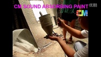 Sound absorbing paint (1) basic color- application