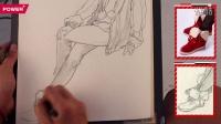  正能艺考 人物速写细节脚