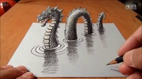 How I Drew a 3D Loch Ness Monster [720p]