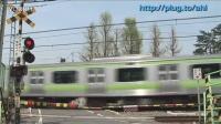 山手線-205系电车最終運轉日 田端站附近道口通過