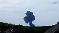 马航MH17航班被击落后坠毁视频