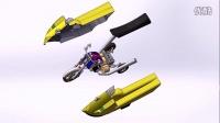 3D 大赛湖北民族学院     水陆两栖摩托车