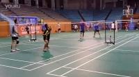 羽毛球开心群,常德老体育馆,140728李克军成功V宝妹泽少片段