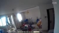 麻将用t6缩时录影拍摄装修视频2014.07.31砌墙