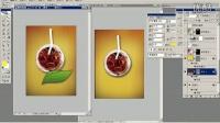 UI设计教程绿茶海报1
