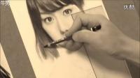 国外画家 铅笔素描手绘 名人美女头像_超清