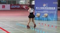 2014 海宁轮滑亚锦赛自由式轮滑 青女花桩季军 赵依然