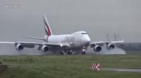 阿联酋747货机史基浦机场震撼反推