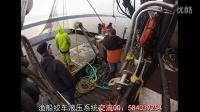 老外渔船绞车作业现场
