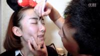 「西西」把脸交给郭老师-男友帮我化妆Tag  微博:Pinky_Sisi