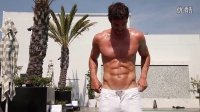 Thom Evans behind the scenes on Attitude cover shoot
