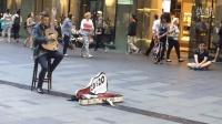 【雪妍拍客】悉尼街头艺术 哥们你吉他弹的这么牛 你父母知道吗