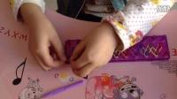 彩虹编织皮筋手链 第一课第二部分