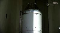 猎户座飞船与三角洲IV重型火箭组装过程
