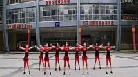 叶子广场舞 映山红 正背面