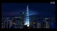上海中心新年灯光秀