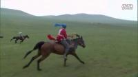 美丽草原上奔腾的骏马