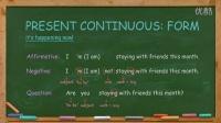 英语语法 Enlgish Grammar Lesson 2: Present Continuous