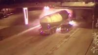 恐怖大货车连撞数辆车