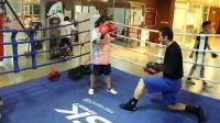 少年拳击直拳下勾拳手靶基础训练2,MARK BOXING北京拳击刘教练6.4华美