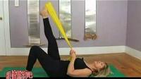 阻力带普拉提训练直腿划圈