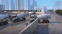 超高层商业综合体地板混凝土浇筑施工动画 石光动画出品