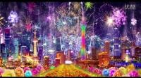 中国美led背景素材 灯笼富贵牡丹
