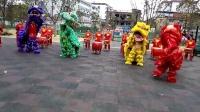 江西安福平都镇管家舞狮队舞狮表演