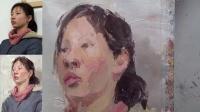 杭州画室——国美应试孪生女青年彩头示范