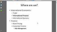 国际金融与风险管理 第一周 第一部分(共三部分)