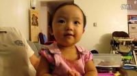 2014年9月10日,Julia涵涵看电脑视频