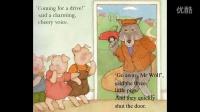 布袋的英文绘本 go away Mr wolf 廖彩杏书单第二周第三本