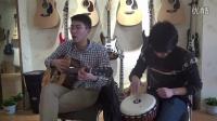 【牛人】吉他    手鼓    弹唱情非得已  TLmusic