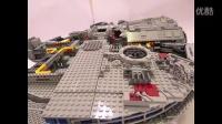 乐高情报站 LEGO 10179 - Millenium Falcon - Time Lapse Build with Stop ...