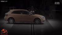摩托和汽车碰撞试验- 2015杜卡迪Multistrada vs奥迪A3