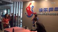 美国乒乓球国家队与球迷切磋迷你乒乓!!