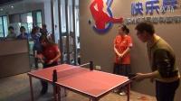 手机打乒乓 美国乒乓球国家队与球迷切磋