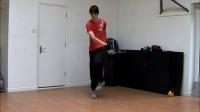 Backward EB method 1 jump rope trick slow motion