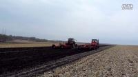 1802橡胶履带拖拉机与LF2204轮拖带4米高速灭茬缺口圆盘耙同场作业视频3