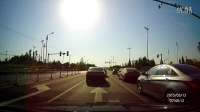 凌度行车记录仪  正对阳光行驶 实际效果 曝光情况