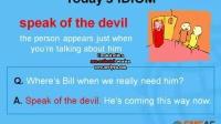 <游学PC>Speak of the Devil-英语学习-菲律宾游学