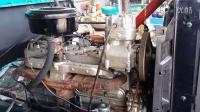 拆解翻新1986年的解放CA15 发动机调过气门后发动