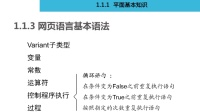 1.1.3.1 网页语言基本语法  《网页设计员(三级)》
