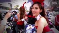 泰国街头 雅马哈YAMAHA R 令人心情愉快的兔女郎活动