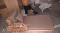 藤木大师-欧式藤实木客厅组合 藤实木全套沙发 美式藤木实木沙发