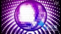 0479紫色动感转动迪斯科球旋转运动循环视频素材