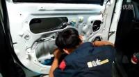 《东莞9音坊》三菱新劲炫汽车音响改装车门内层隔音过程。