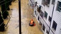实拍台江县城被水淹。