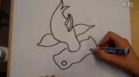 儿童画锤头鲨根李老师学画画