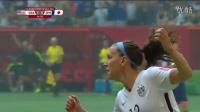 2015女足世界杯决赛 美国5-2日本夺冠 卡里.洛伊德戴帽并打进半场吊射破门